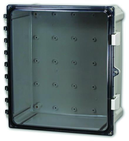 Polycarbonate Enclosures with Clear Cover Non-Metallic Hinge and Non-Metallic Latches image
