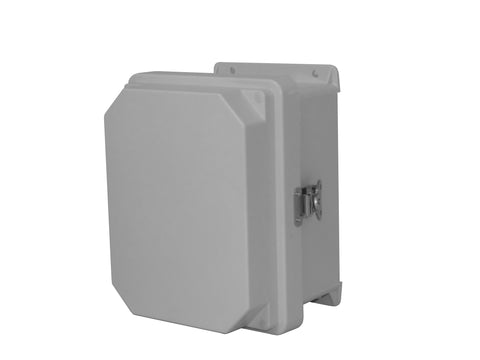 RVJ-HWLL Series - Fiberglass Enclosures with Raised Cover and Stainless Steel Continuous Hinge - Includes Stainless Steel Latches image