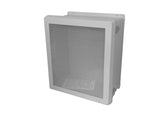 VJB-NHWPL Series - Fiberglass Enclosures with Bonded Window and Non-Metallic Hinges - Includes Stainless Steel Padlockable Latches