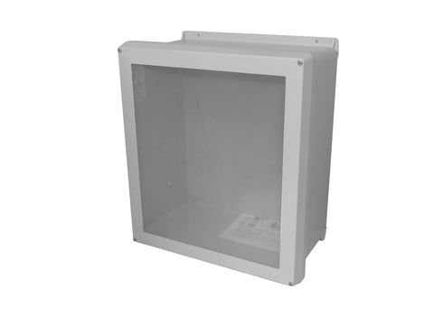 RVJB-W Series - Fiberglass Enclosures with Raised Screw Cover and Bonded Window - Includes Stainless Steel Cover Screws image