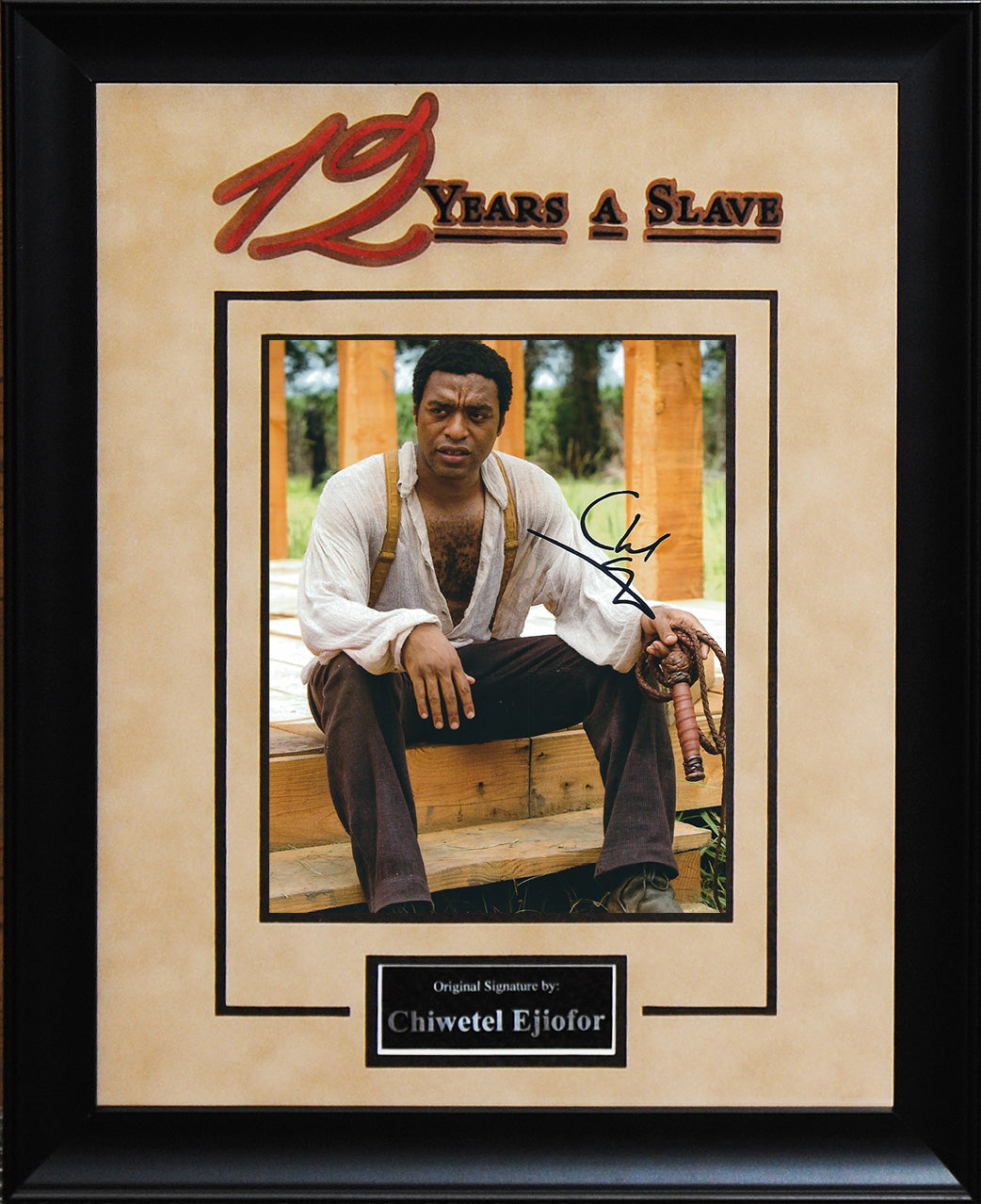 """12 Years A Slave"" - Chiwetel Ejiofor Signed 8x10 Photo"