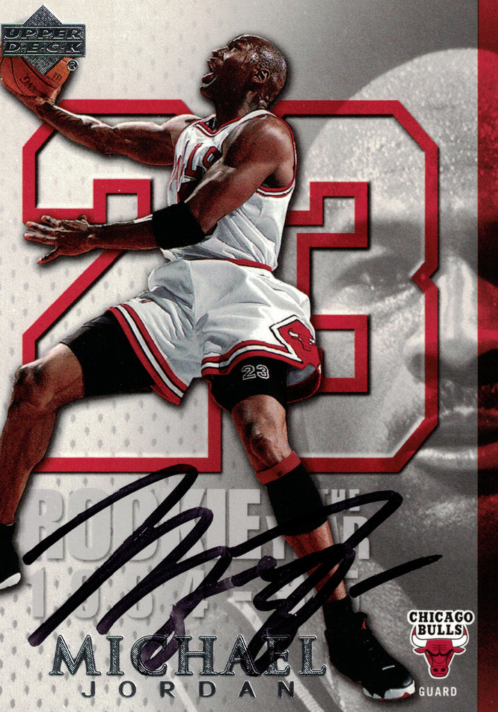 """Chicago Bulls"" - Michael Jordan Signed Trading Card (Unframed )"