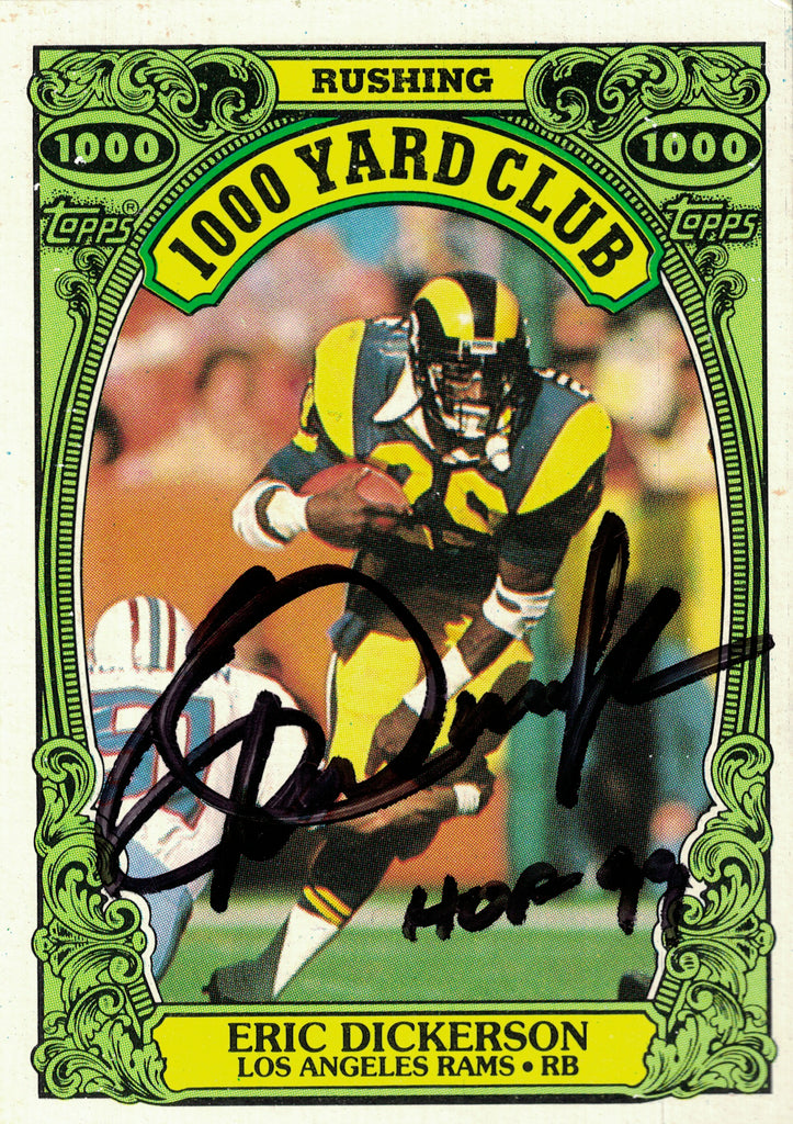 """LA Rams"" - Eric Dickerson Signed Trading Card (Unframed)"
