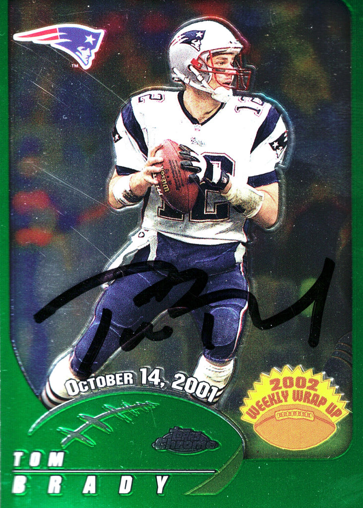"""New England Patriots"" - Tom Brady Signed Trading Card (Unframed)"