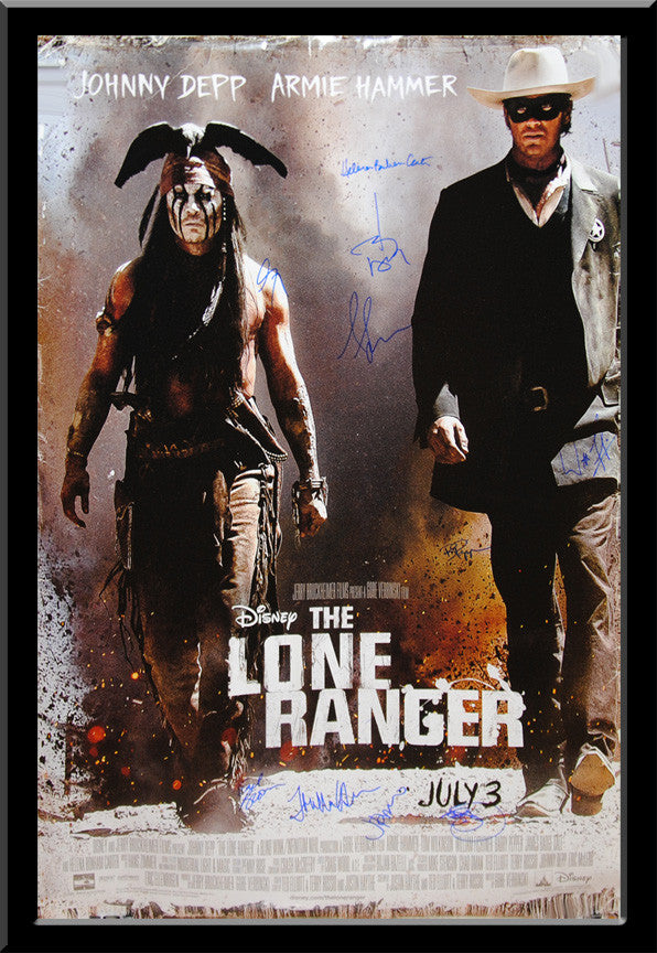 """Lone Ranger, The"" Signed Movie Poster"