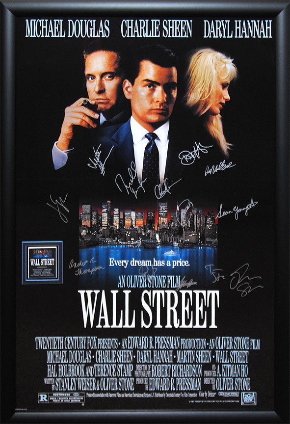"""Wall Street"" cast signed poster"
