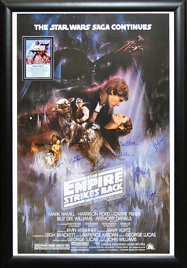 """Star Wars: Empire Strikes Back"" Cast Signed Movie Poster"