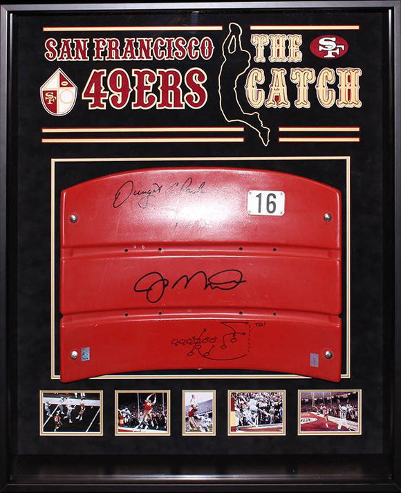 """San Francisco 49ers"" ""The Catch"" Signed #16 seatback"
