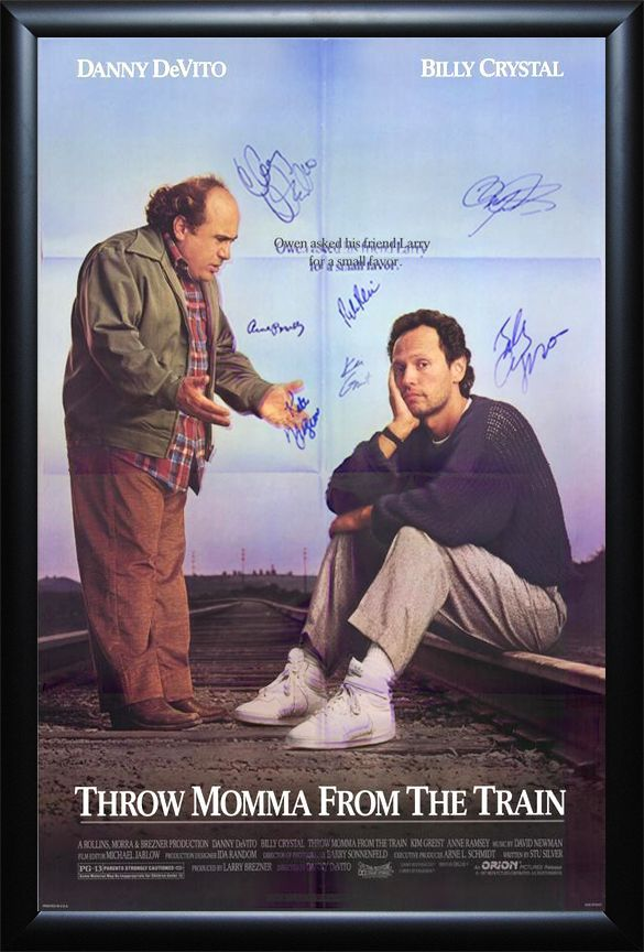 """Throw Momma from the Train"" signed cast poster"