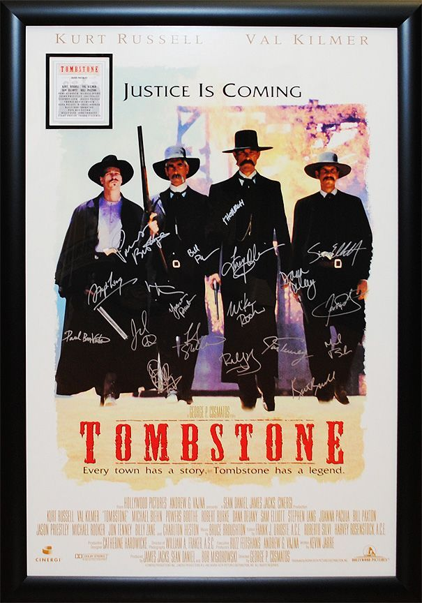 """Tombstone"" signed cast poster"