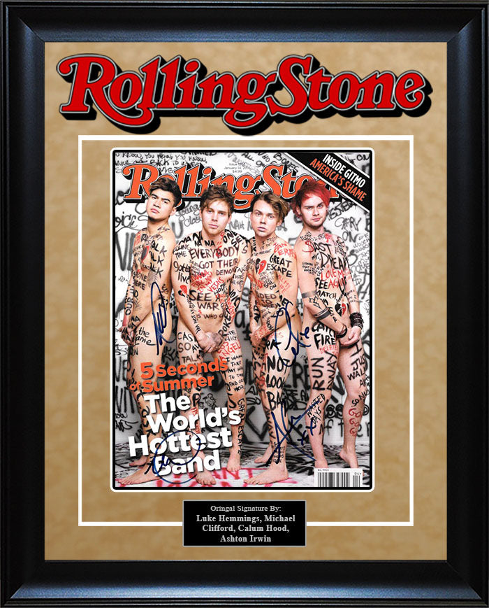 """5 Seconds of Summer"" - Signed Rolling Stone Magazine"