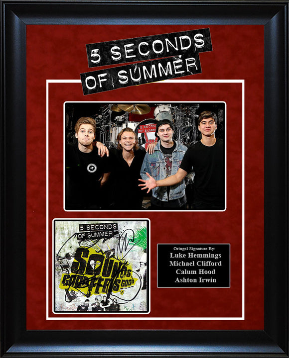 """5 Seconds Of Summer"" - Signed Sounds Good, Feels Good CD Insert"