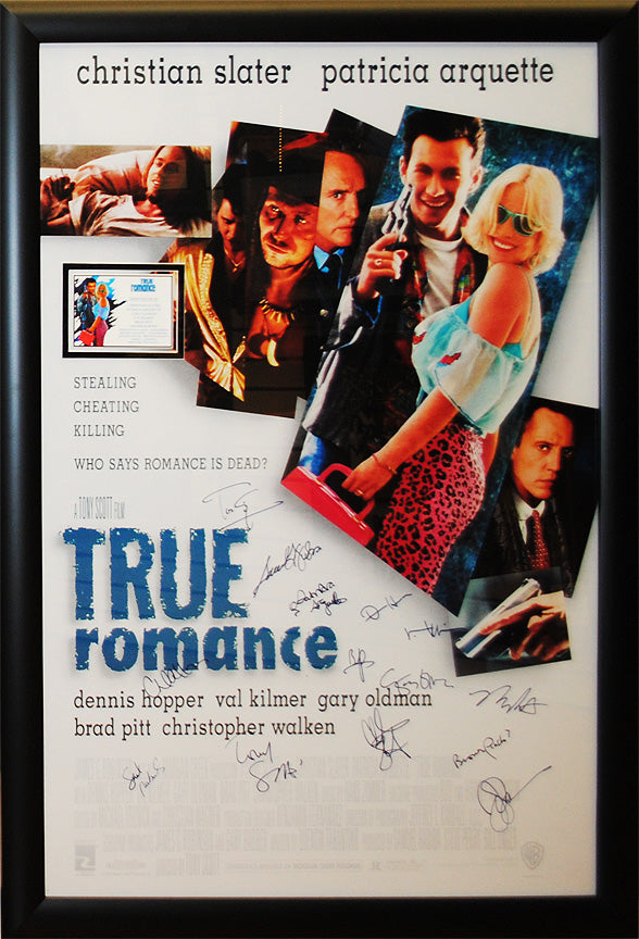 """True Romance"" cast signed poster"