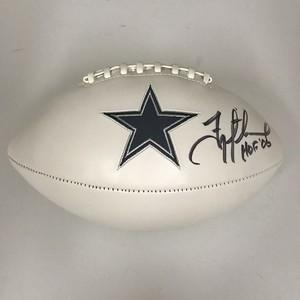 Dallas Cowboys - Troy Aikman Signed White Panel Logo Football