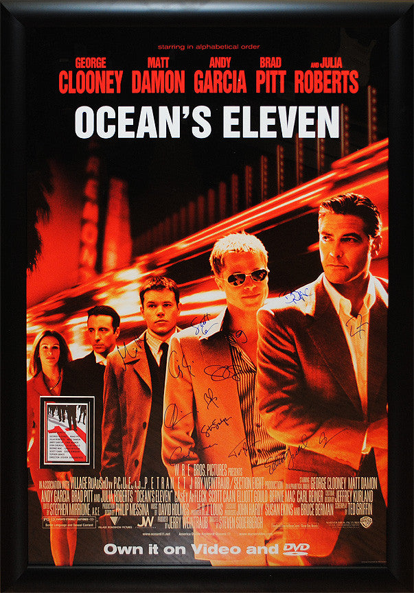 """Oceans 11"" Signed Movie Poster"