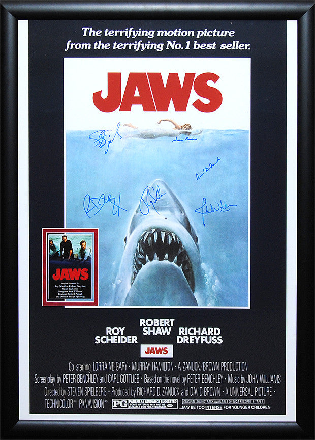 """Jaws"" Signed Movie Poster"