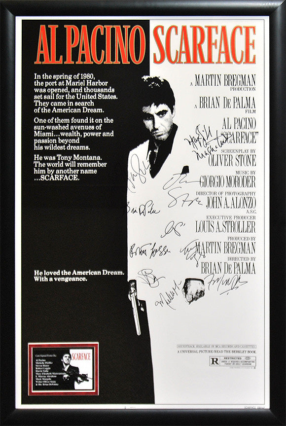 """Scarface"" Cast Signed Movie Poster"