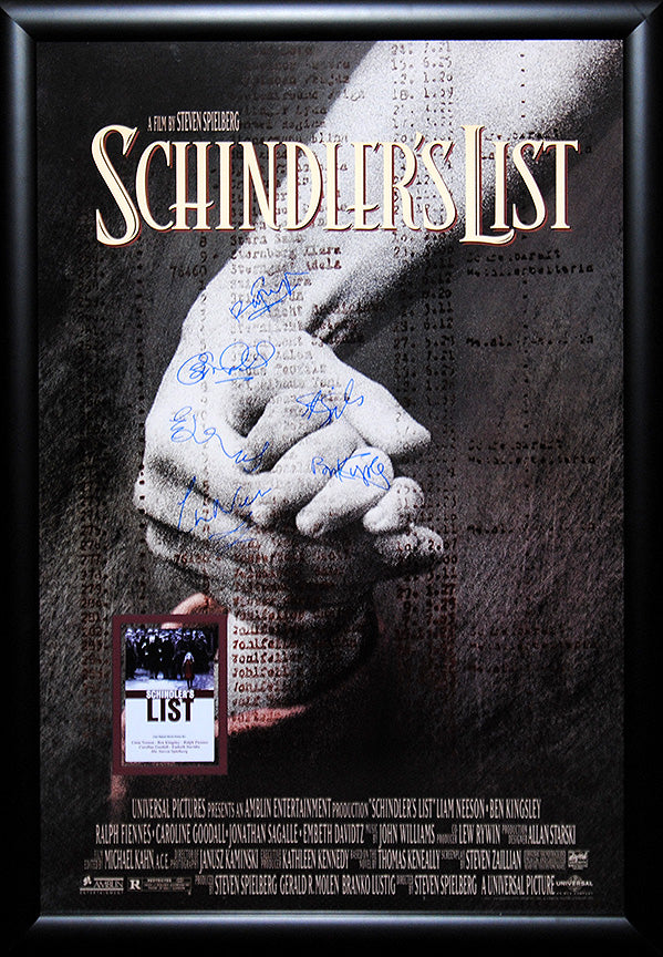 """Schindler's List"" Cast Signed Movie Poster"