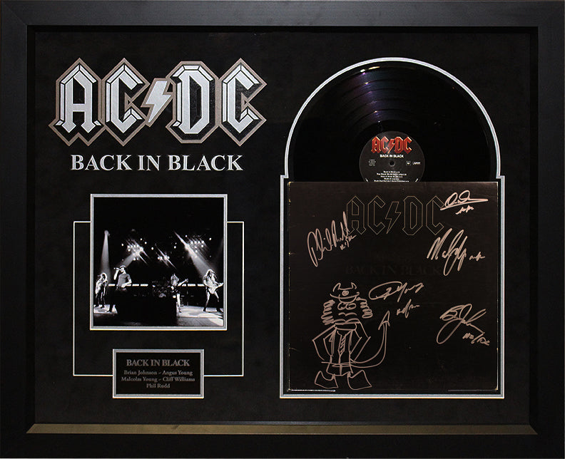 """AC/DC"" - RARE original ""Back in Black"" LP w/sketch"