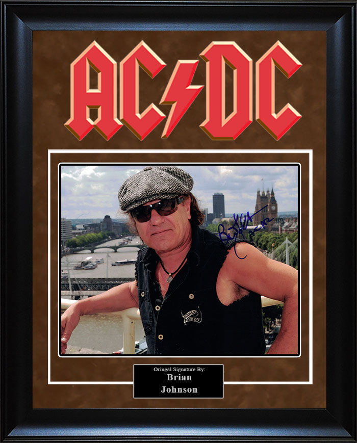 """ACDC"" - Brian Johnson Signed 8x10 Photo"