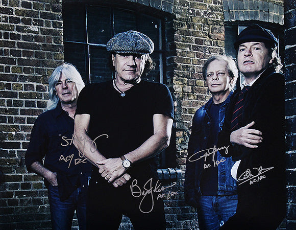 """AC/DC"" Current Band signed 16x20 (unframed)"