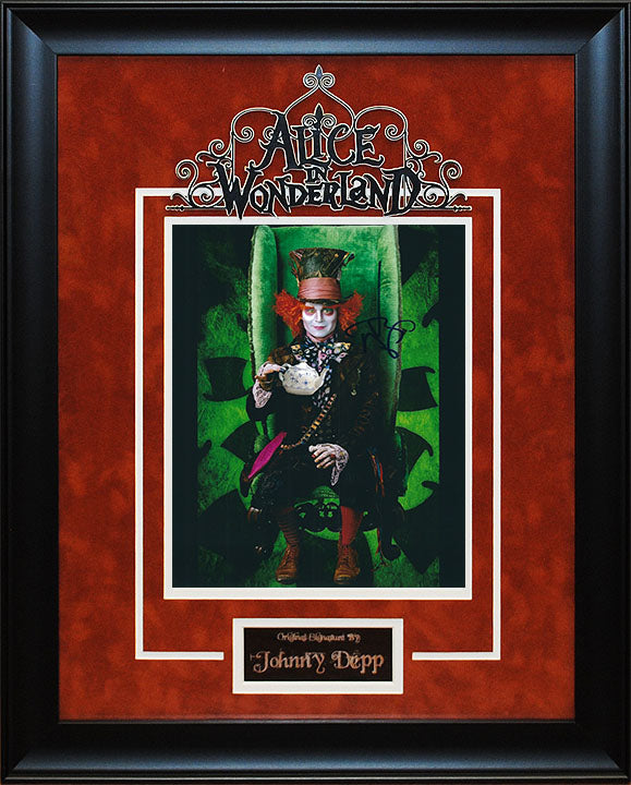 """Alice In Wonderland"" - Johnny Depp Signed 8x10 Photo"