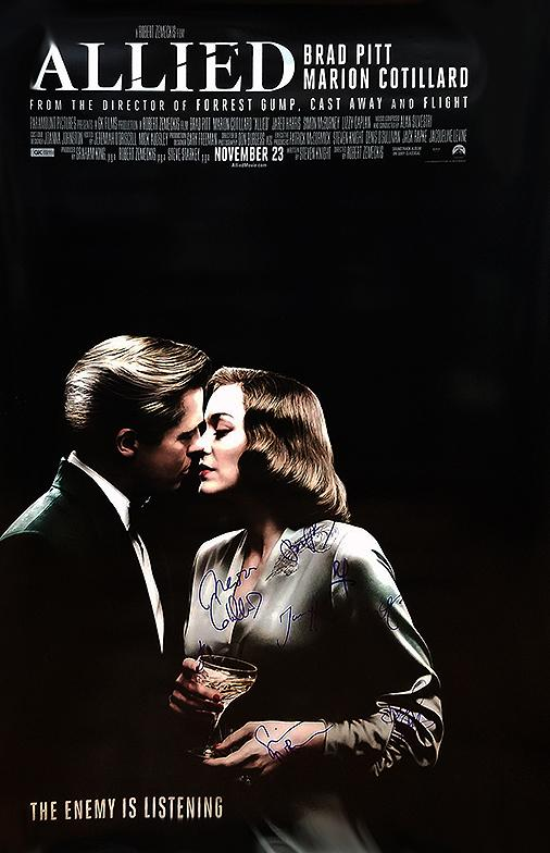"""Allied"" Cast signed Movie Poster (Unframed)"