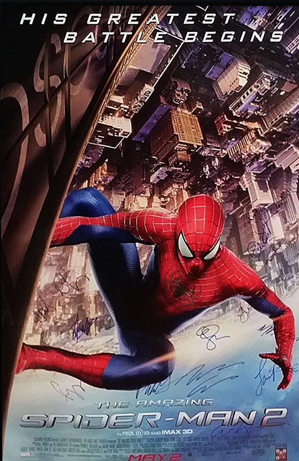 """Amazing Spiderman 2"" Signed Movie Poster (Unframed)"