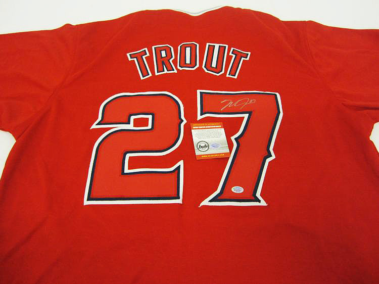 """Anaheim Angels"" Mike Trout signed jersey (unframed)"