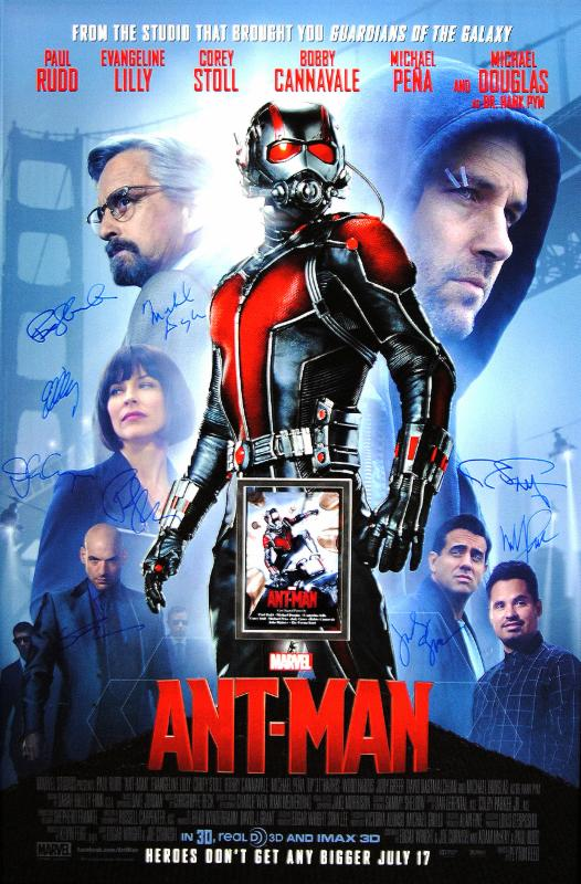 """Ant-Man"" Cast signed Movie Poster (Unframed)"