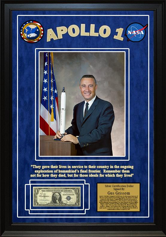 """Apollo 1 - "" Virgil ""Gus"" Grissom signed (1925) $1 Silver Certificate"