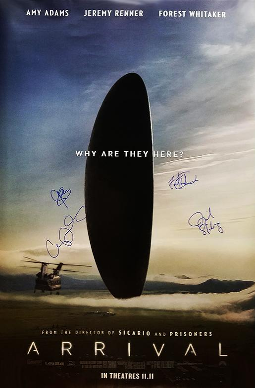 """Arrival"" Cast signed Movie Poster (Unframed)"