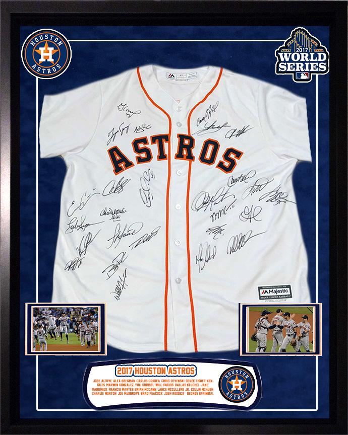 """Astros"" 2017 World Series Championship Team signed Jersey"