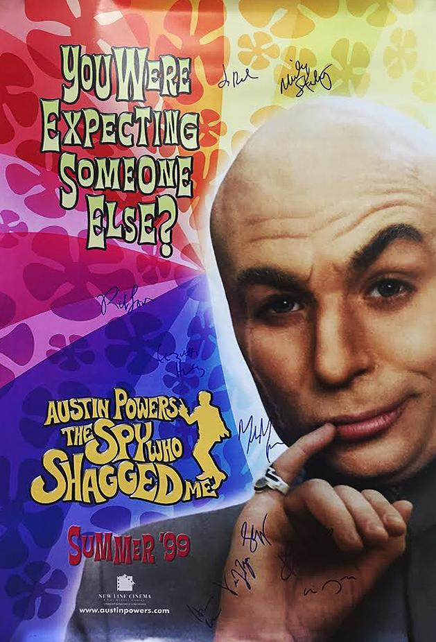 """Austin Powers: The Spy Who  Shagged Me"" Cast signed Movie Poster"
