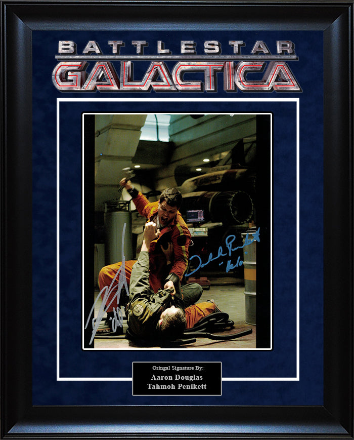 """Battlestar Galactica"" - Aaron Douglas and Tahmoh Penikett Signed 8x10 Photo"