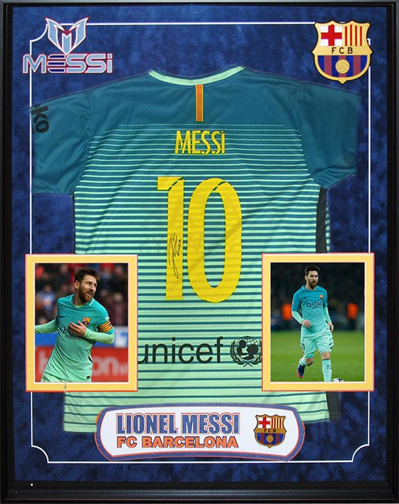 """FC Barcelona"" Signed alt. Jersey by Lionel Messi"