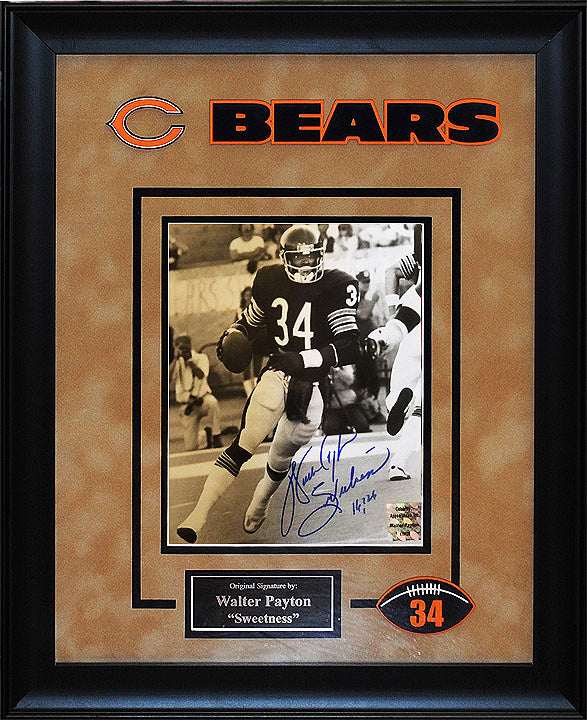 """Chicago Bears"" Legend Walter Payton signed 8x10"