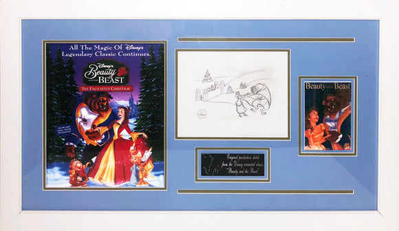 """Beauty & The Beast: Enchanted Christmas"" LE Production sketch"