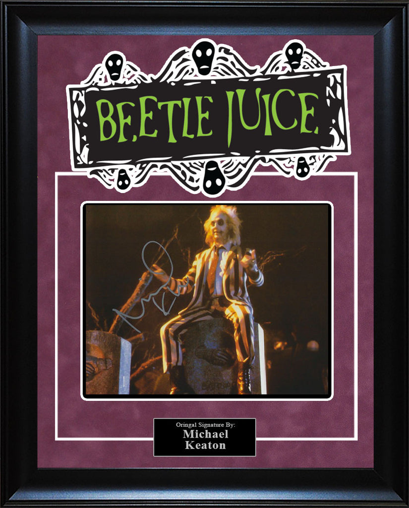 """Beetlejuice"" - Michael Keaton Signed 8x10 Photo"