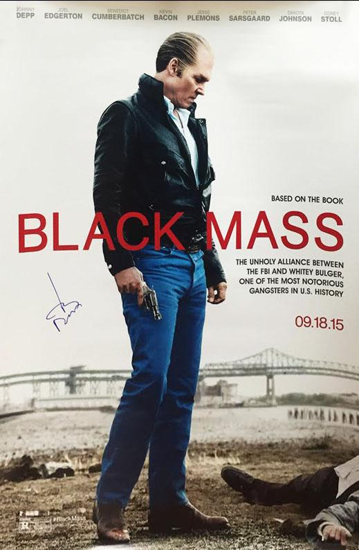 """Black Mass"" Cast signed Movie Poster (Unframed)"