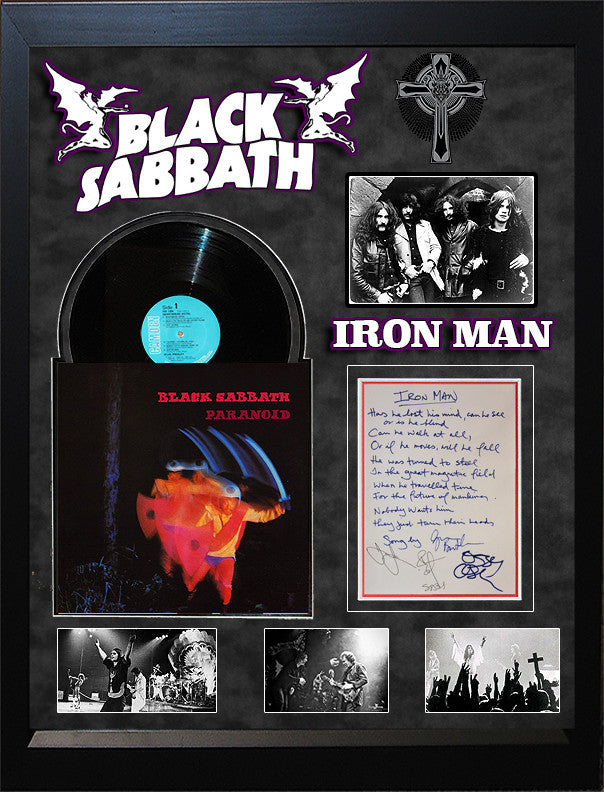 """Black Sabbath"" handwritten Iron Man Lyrics"
