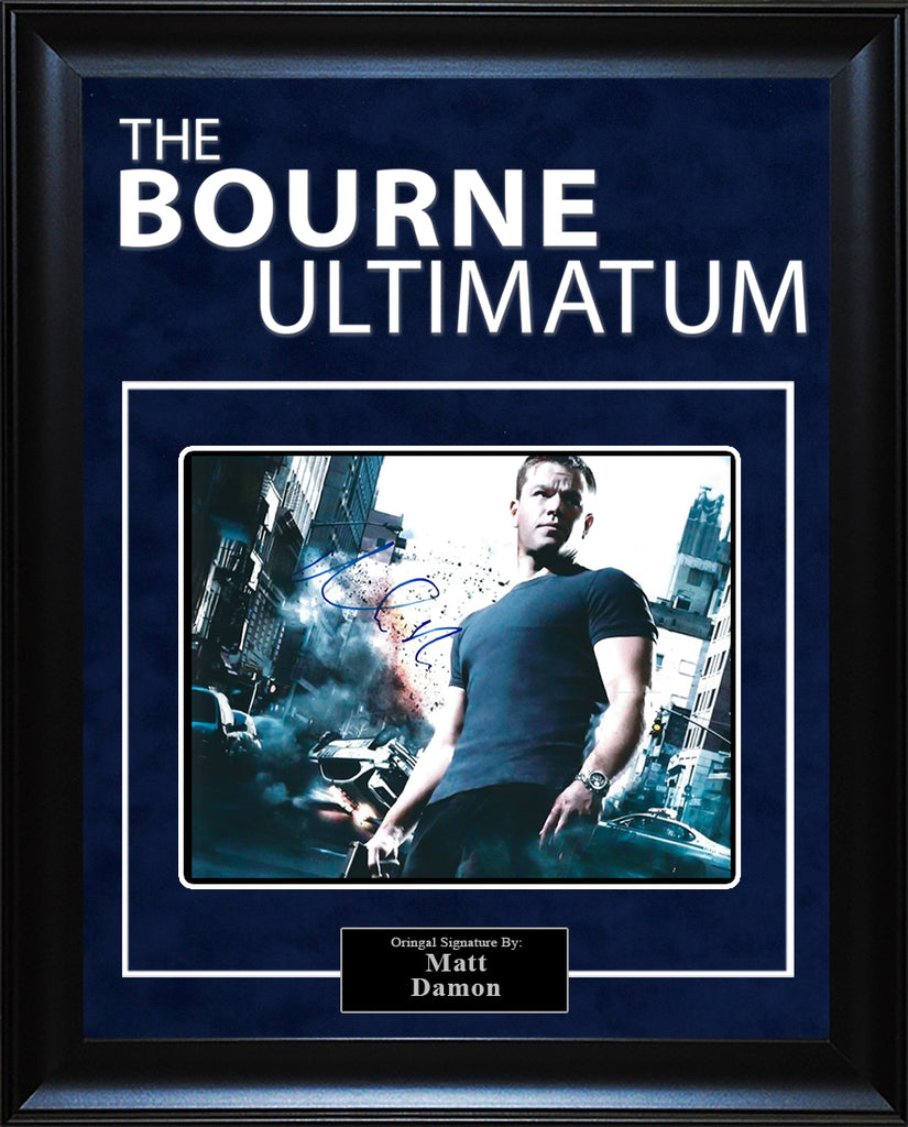 """The Bourne Ultimatum"" - Matt Damon Signed 8x10 Photo"