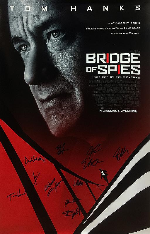 """Bridge of Spies"" Cast signed Movie Poster (Unframed)"