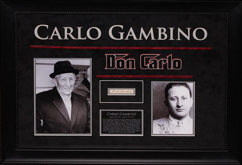"""Don Carlo"" Gambino - Original Signature"