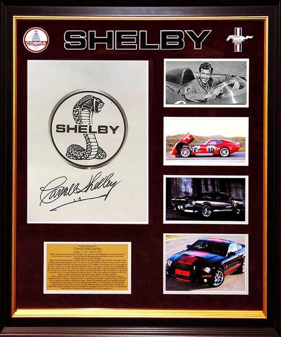 "Carroll Shelby signed ""Cobra"" Logo!"