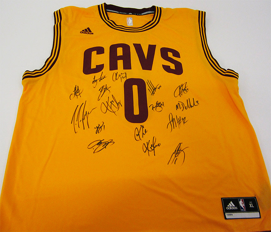 """Cleveland Cavaliers"" 2015-16 NBA Championship Team signed jersey (unframed)"