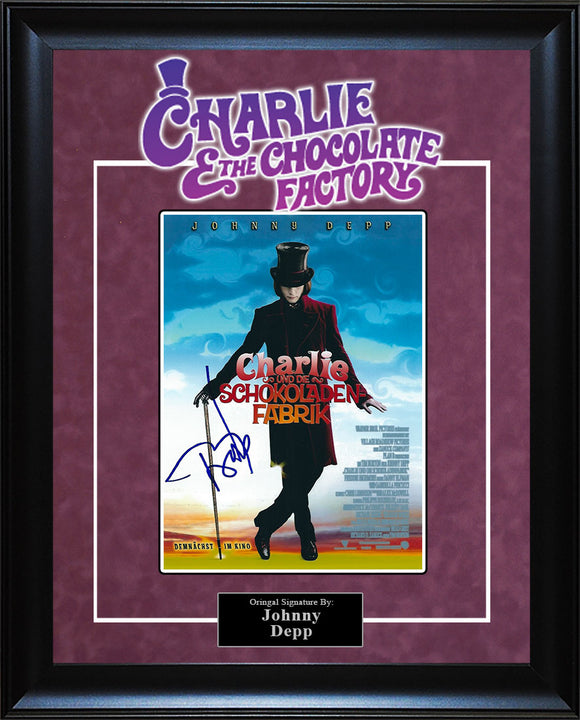 """Charlie and the Chocolate Factory"" - Johnny Depp Signed 8x10 Photo"