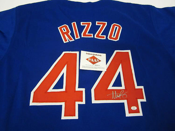"""Chicago Cubs"" Anthony Rizzo signed jersey (unframed)"