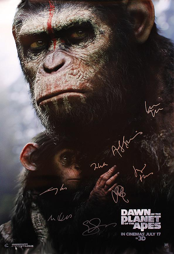 """Dawn of the Planet of the Apes"" Signed Movie Poster (Unframed)"