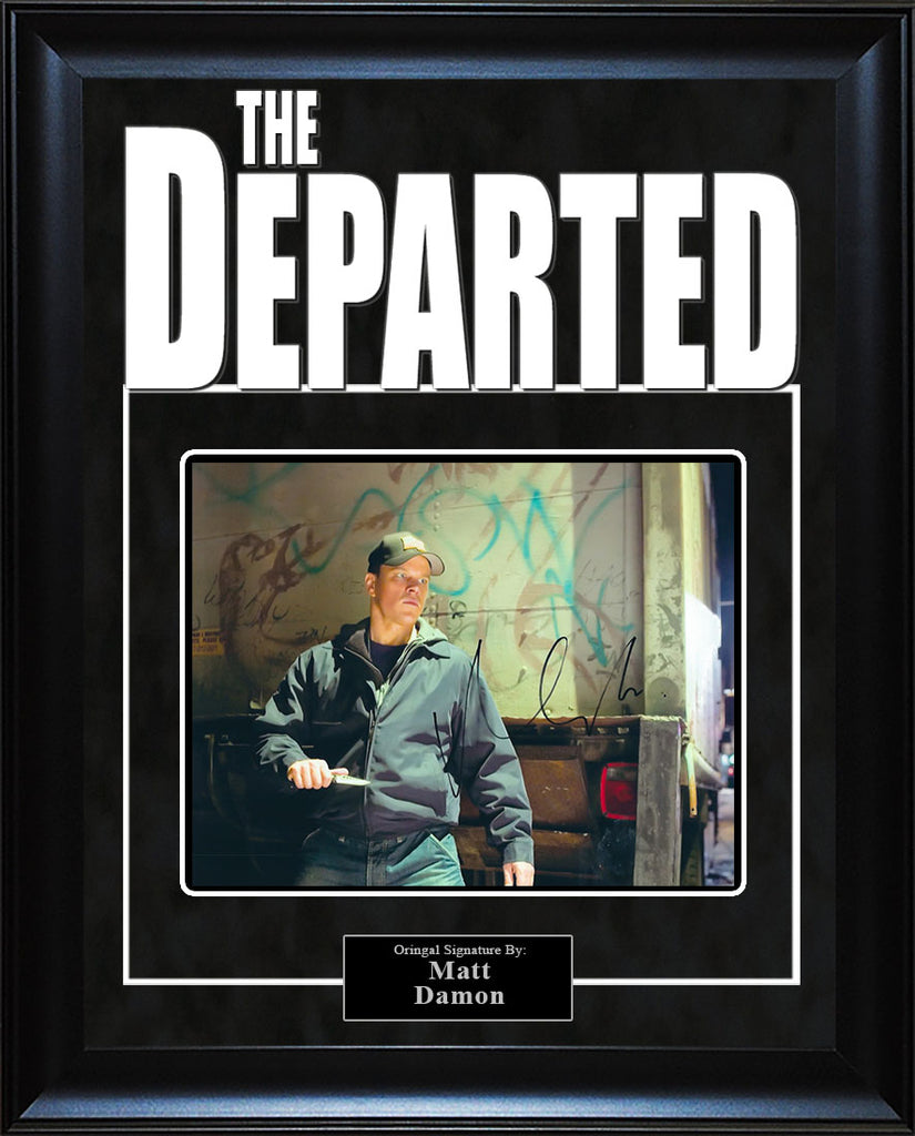 """The Departed"" - Matt Damon Signed 8x10 Photo"